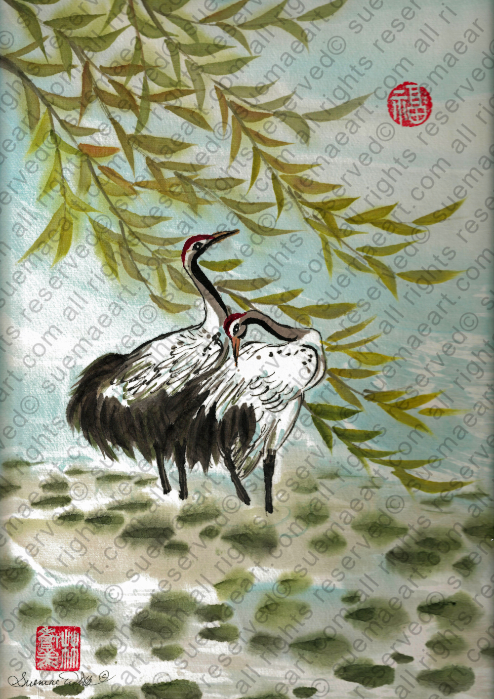 Symbol of Cranes: Longevity and Mate for life.